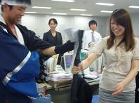 オフィス侍の刀ならぬ旗.JPG