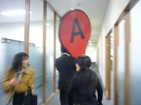 廊下でビックリ.JPG