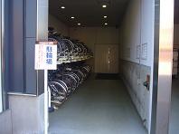 朝活自転車置き場.JPG