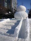雪だるま滑り台.JPG