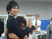 2008.9樽商インターンシップ抱擁.JPG